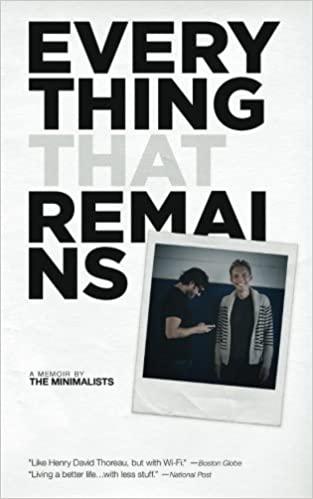 libro minimalismo Everything That Remains
